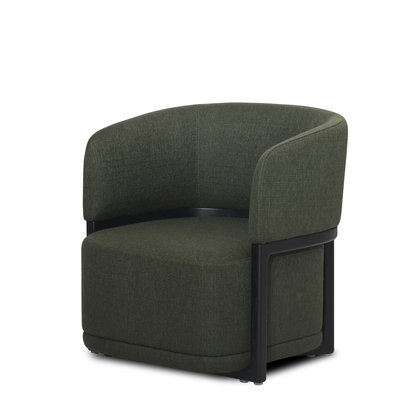 The Grand COMO Arm Chair Forest Green Hopsack