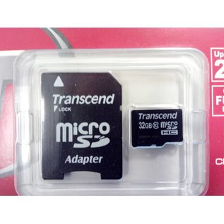 Transcend Micro SD kaart 32 GB + Adapter