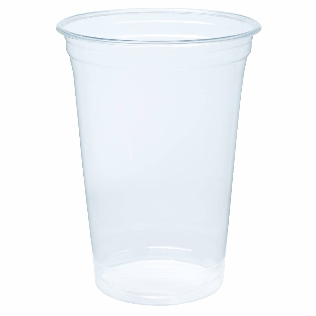 Biodegradable - Bioplastic cups 500ml Blanko