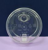 Couvercle gobelet en papier pour paille a Bubble tea - transparent