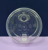 Pappbecherdeckel für Bubble Tea Strohalme - transparent