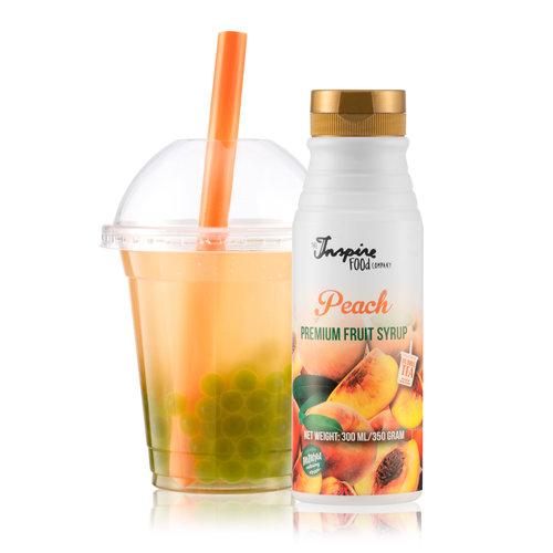 300 ml Premium - Melocotón - Jarabe de frutas -