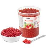 1kg Becher Fruchtperlen Erdbeere