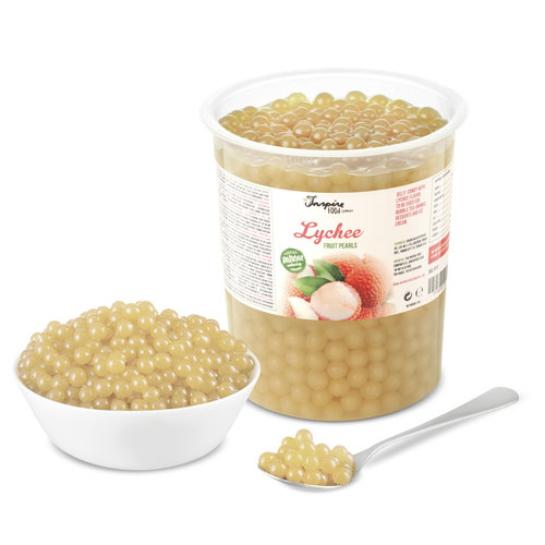1kg krukke Frugtperler - Lychee -