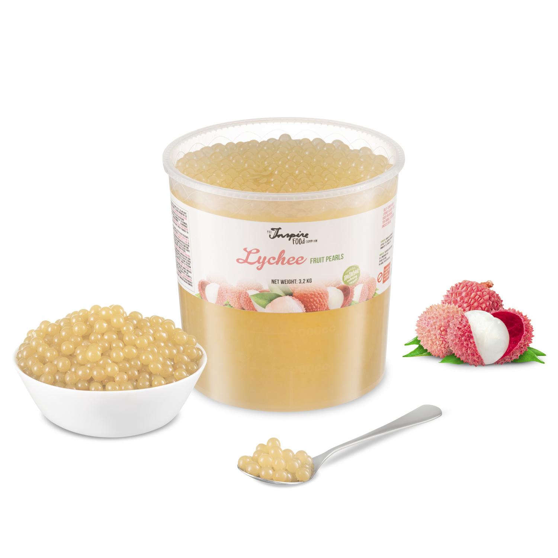 Fruchtperlen für Bubblete - Litschi - ( 3,2 kg )