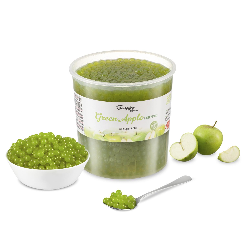 Fruchtperlen für Bubbletea - Grüner Apfel - ( 3,2 kg )