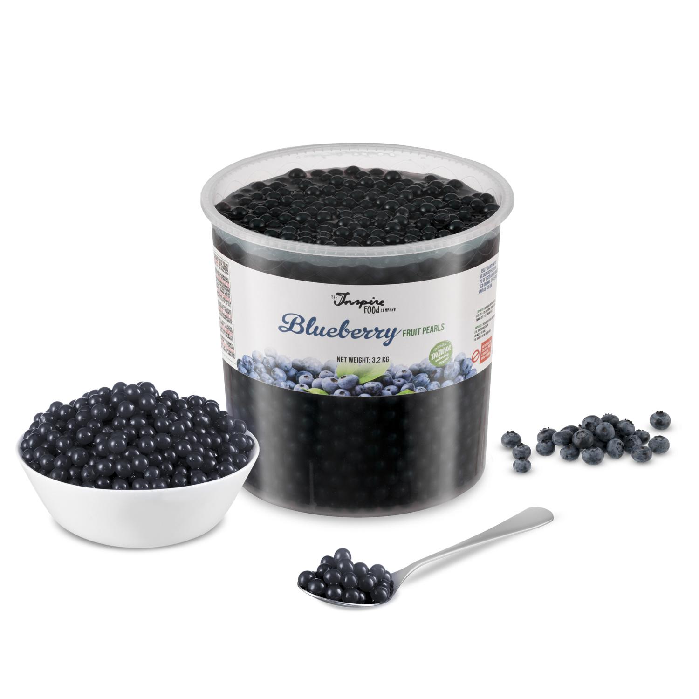 Fruchtperlen für Bubbletea - Heidelbeeren - ( 3,2 kg )