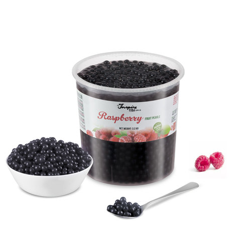 Fruchtperlen für Bubbletea - Himbeere - ( 3,2 kg ) -