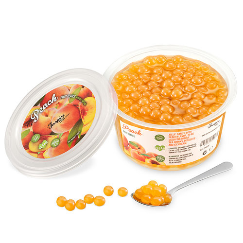 450gr Becher Fruchtperlen Pfirsich