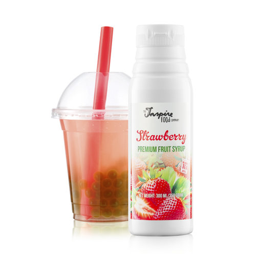 300 ml Premium - Jordbær - Frugtsirup -