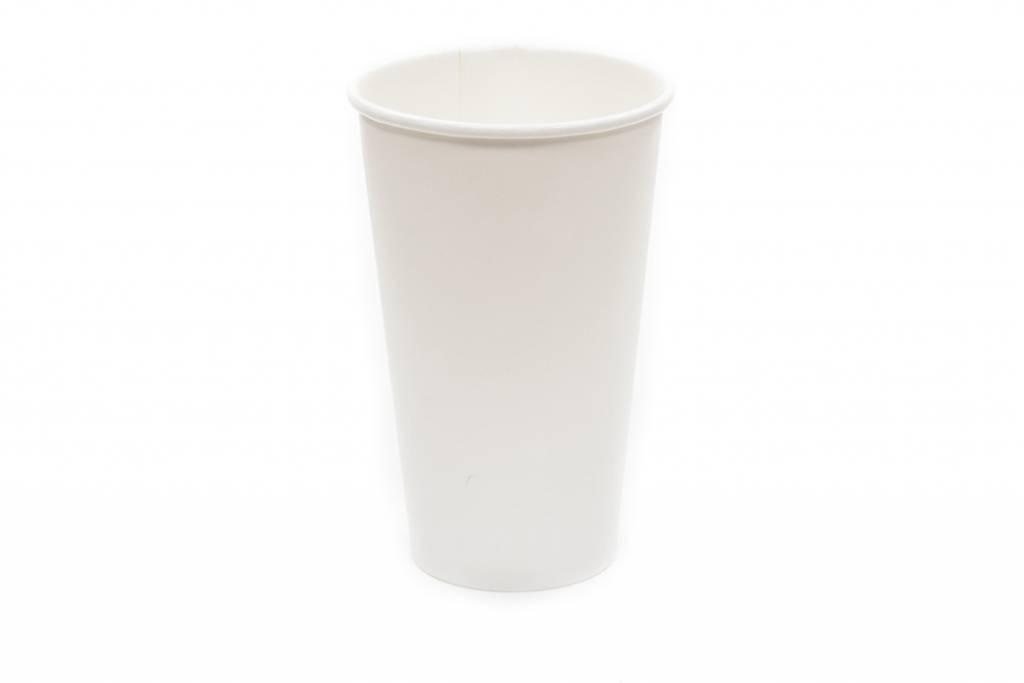 Bicchieri di carta bianchi da 500 cc