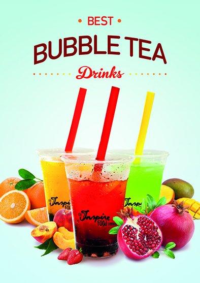 Bubble tea poster A5