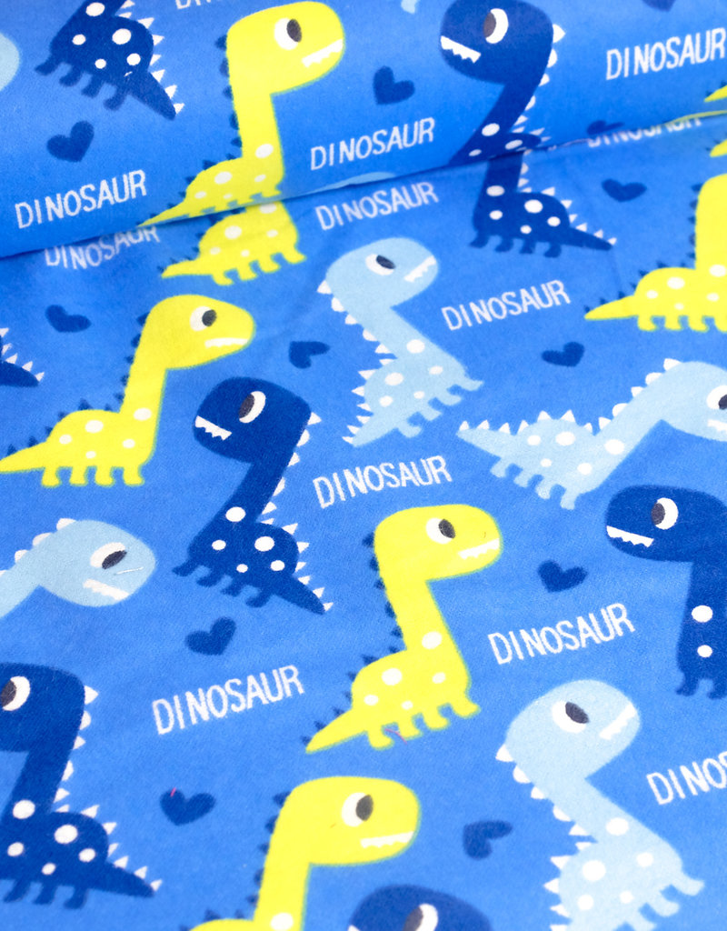 Stoff Eule Flanell Tom's coole Dinosaurier