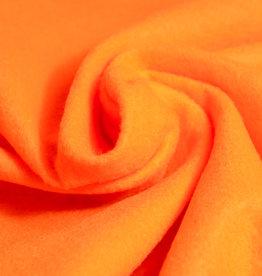 Stoff Eule Filz Uni 2 mm Neon orange