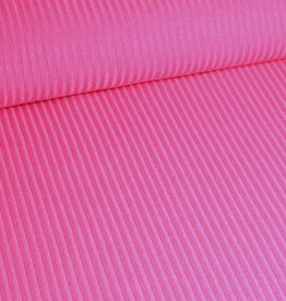 Stoff Eule Ripp-Jersey pink