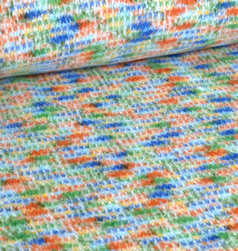 Multicolor Strick gefleckt blau orange