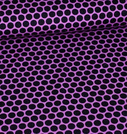 Swafing French Terry cool circle style schwarz violett