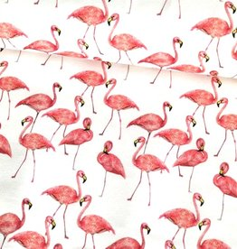 Stoff Eule Jersey Spring Flamingo