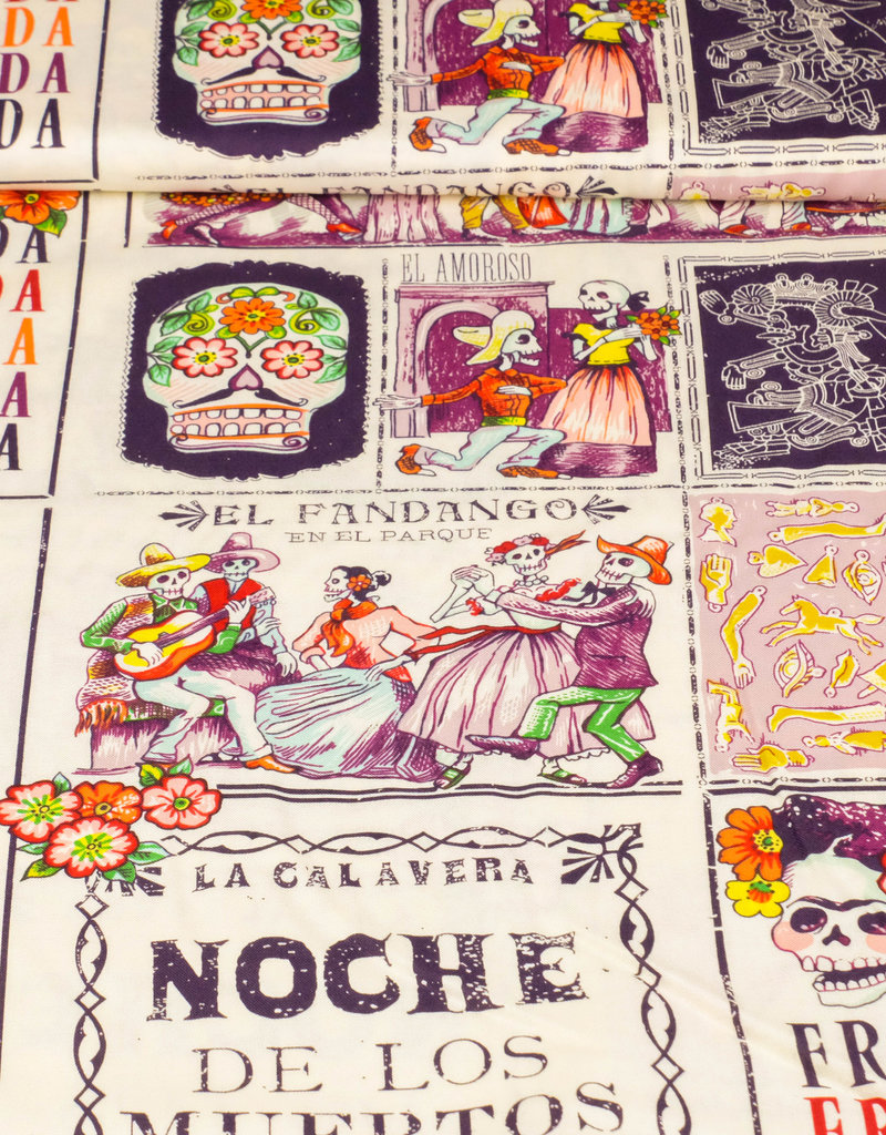 Art Gallery Baumwolle Patchwork AGF mexican news beige hell