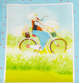 "Stoff Eule Baumwoll Patchwork Kissen Panel ""adventure girl"""