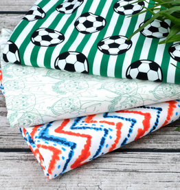 Stoff Eule Stoffpaket 3 Meter Jersey Fußball Edition