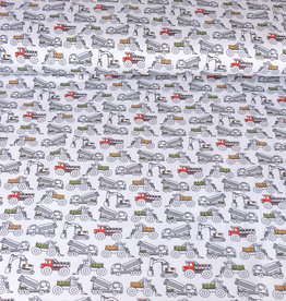 Stoff Eule Jersey vehicles cars hell grau