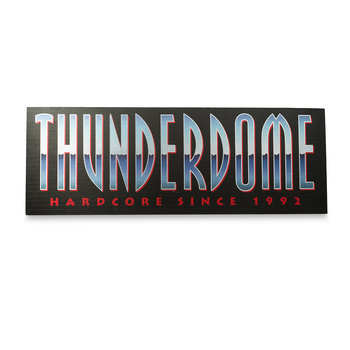 Thunderdome Thunderdome Logo 60x21,5 Dibond