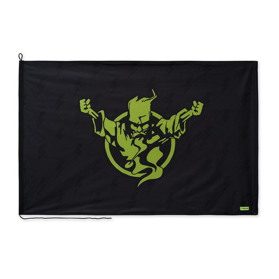 Thunderdome flag black/fluor green