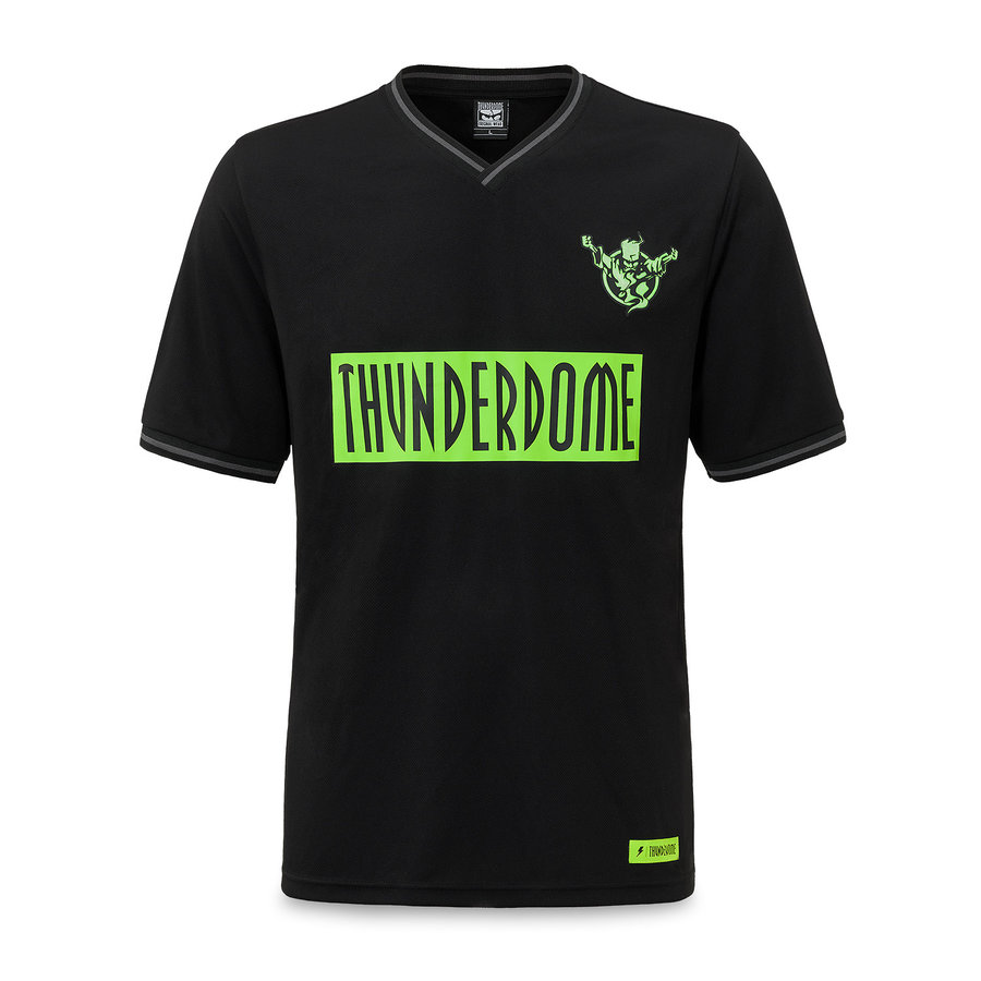 Thunderdome football shirt black/fluor green