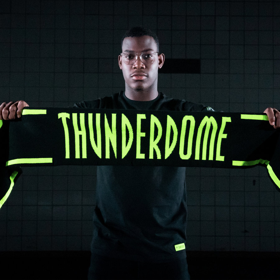 Thunderdome scarf black/fluor green