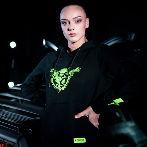 Thunderdome Thunderdome hoodie black/fluor green