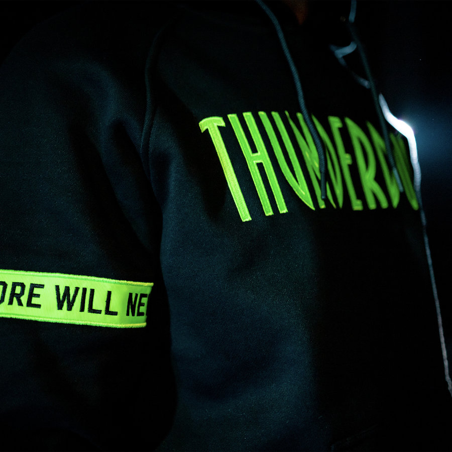 Thunderdome hoodie black/fluor green