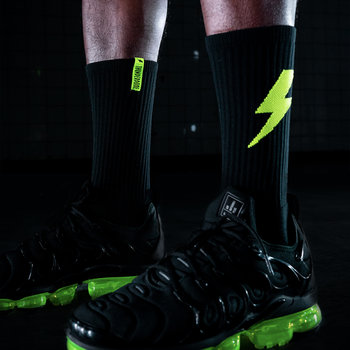Thunderdome Thunderdome sock 2-pack black/fluor green