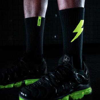 Thunderdome Thunderdome sock 2-pack black/fluor green