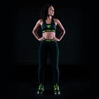 Thunderdome legging black/fluor green
