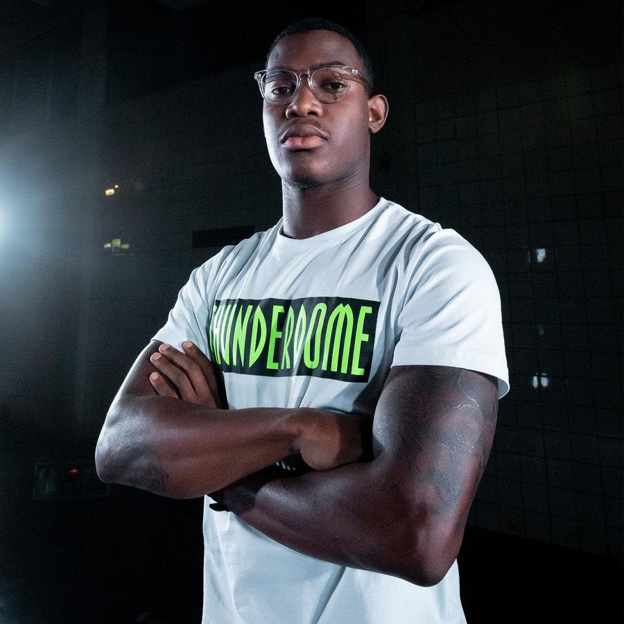 Thunderdome t-shirt white/fluor green