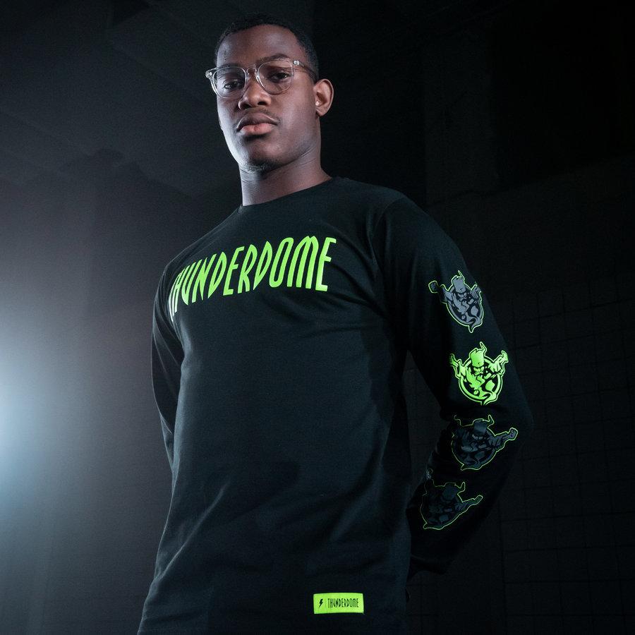 Thunderdome longsleeve black/fluor green