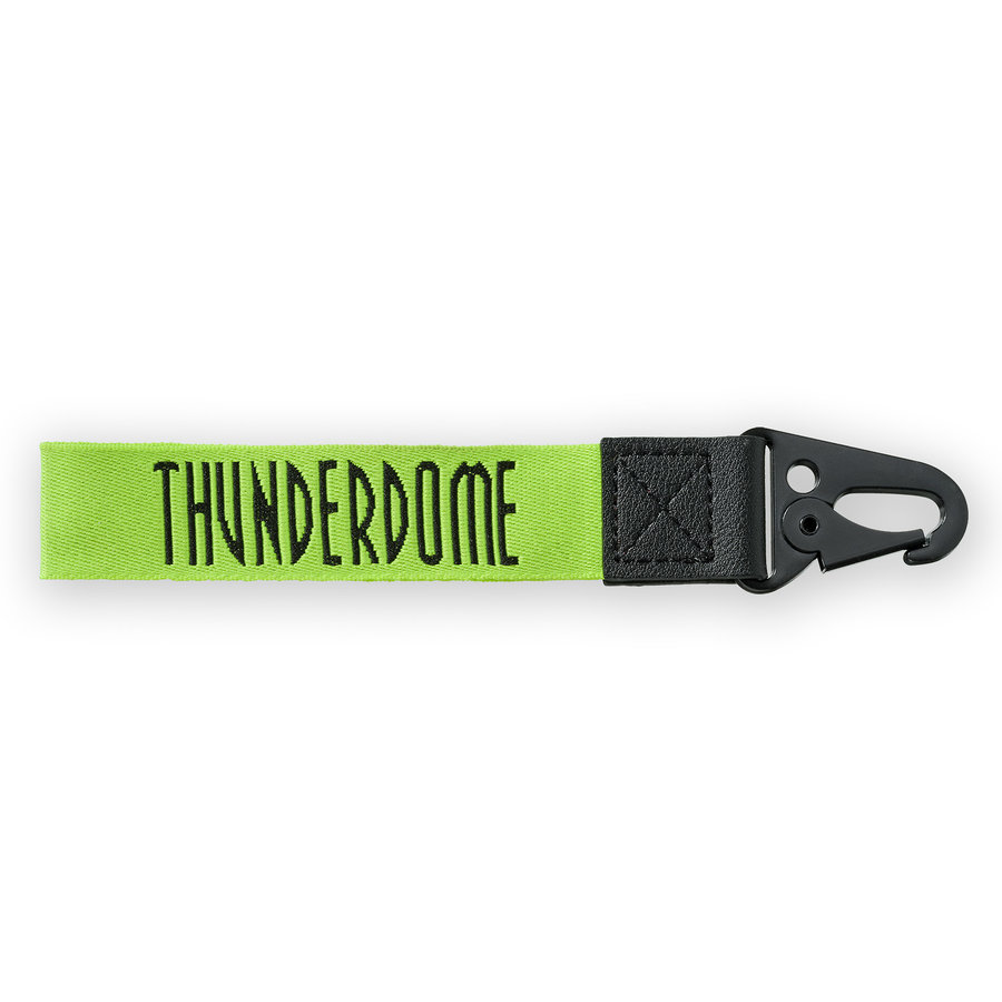 Thunderdome keychain fluor green/black