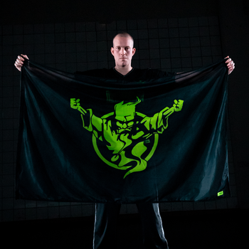 Thunderdome Thunderdome flag black/fluor green
