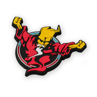 Thunderdome magnet red/blue