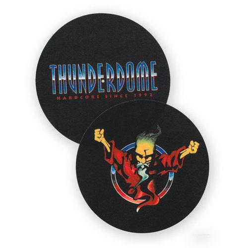 Thunderdome Thunderdome turntable slipmat 2 pack