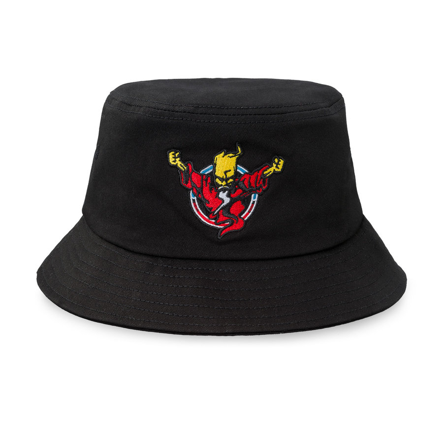 Thunderdome bucket hat black/red