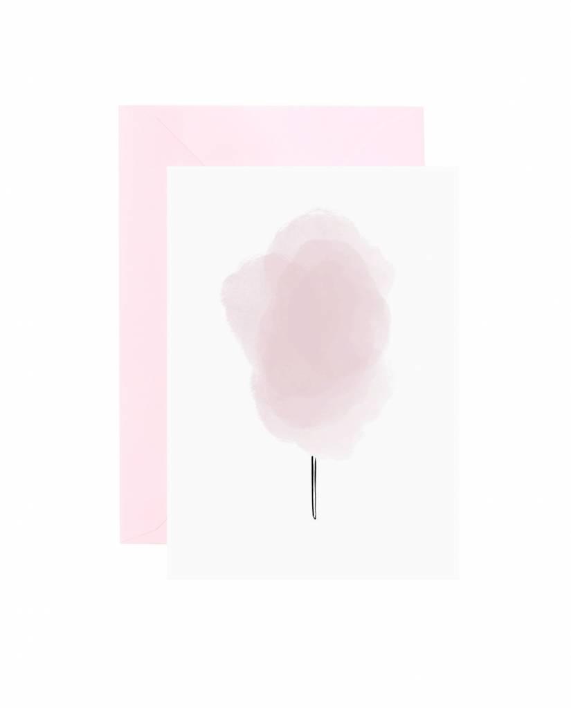 "Grußkarte ""Candyfloss"""