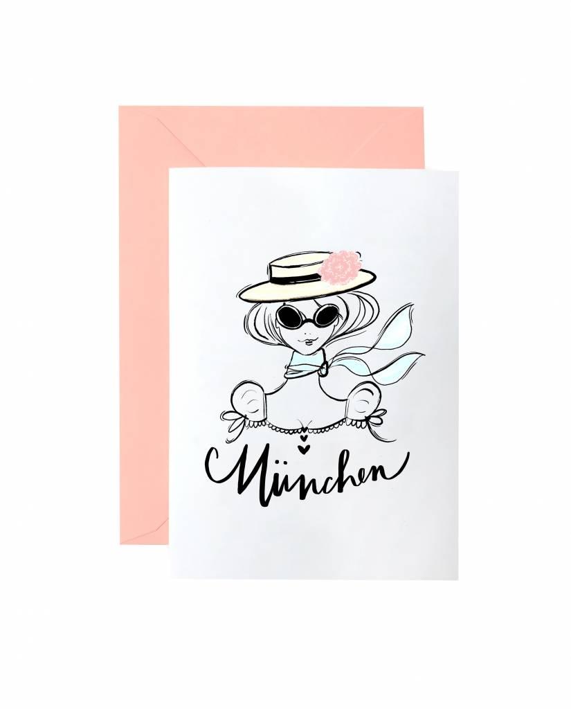 "Grußkarte ""Munichoise"""
