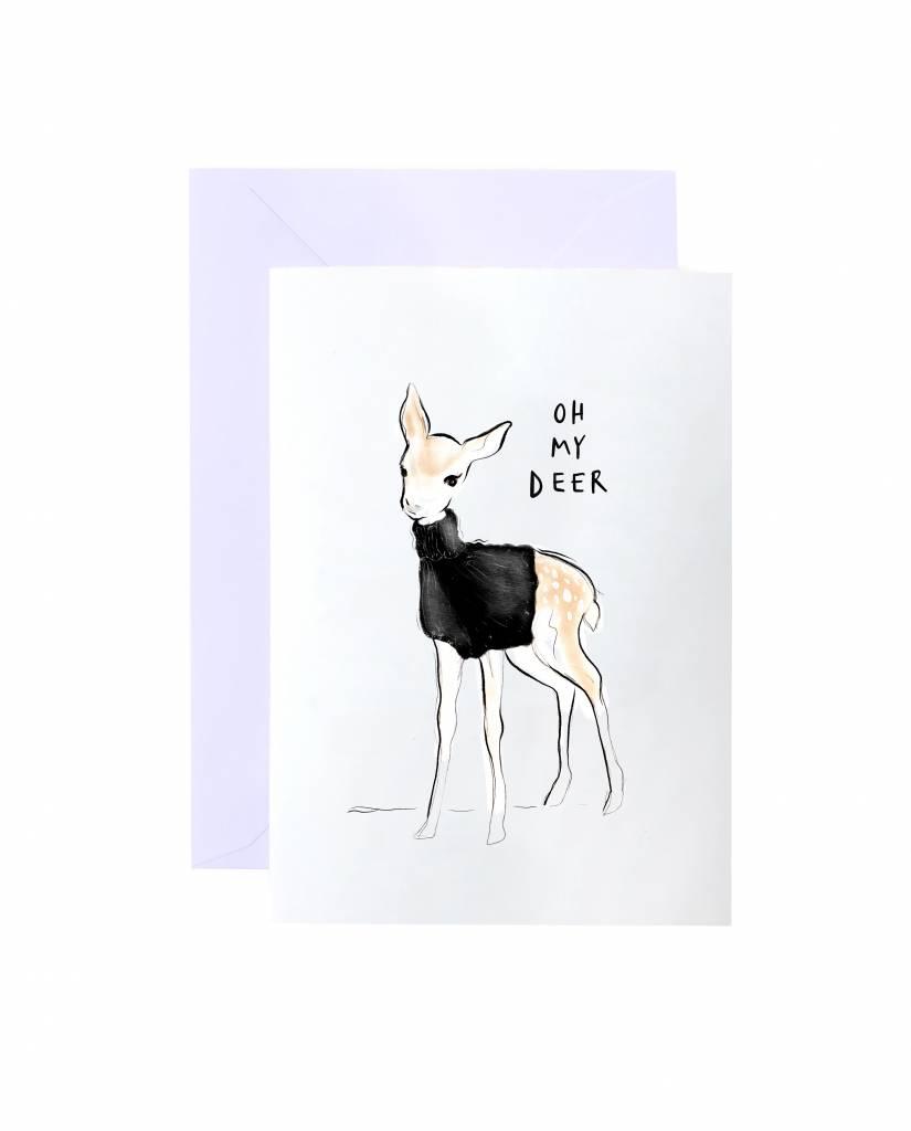 """Grußkarte """"Oh My Deer"""""""