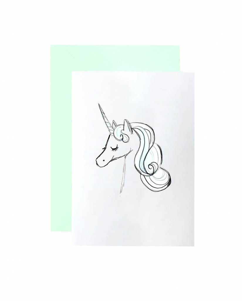 """Grußkarte """"Unicorn"""""""