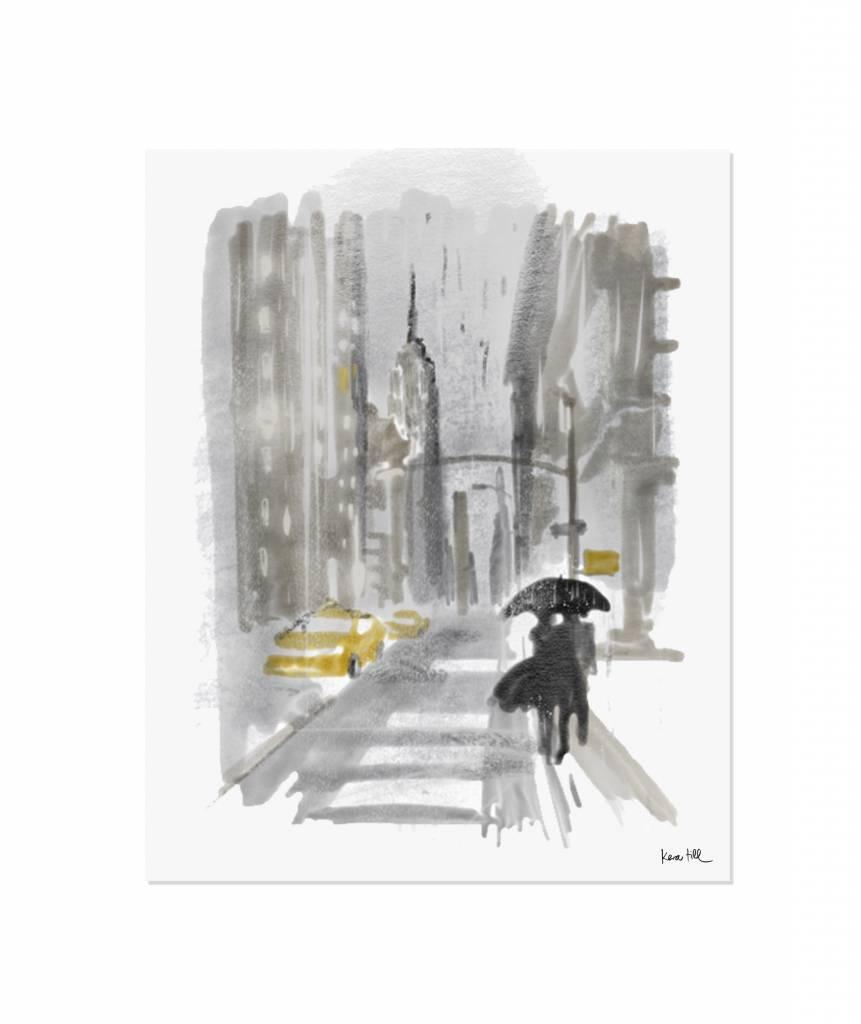 New York Rain - ungerahmt