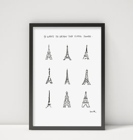 "Poster ""Eiffel Tower"" A3"