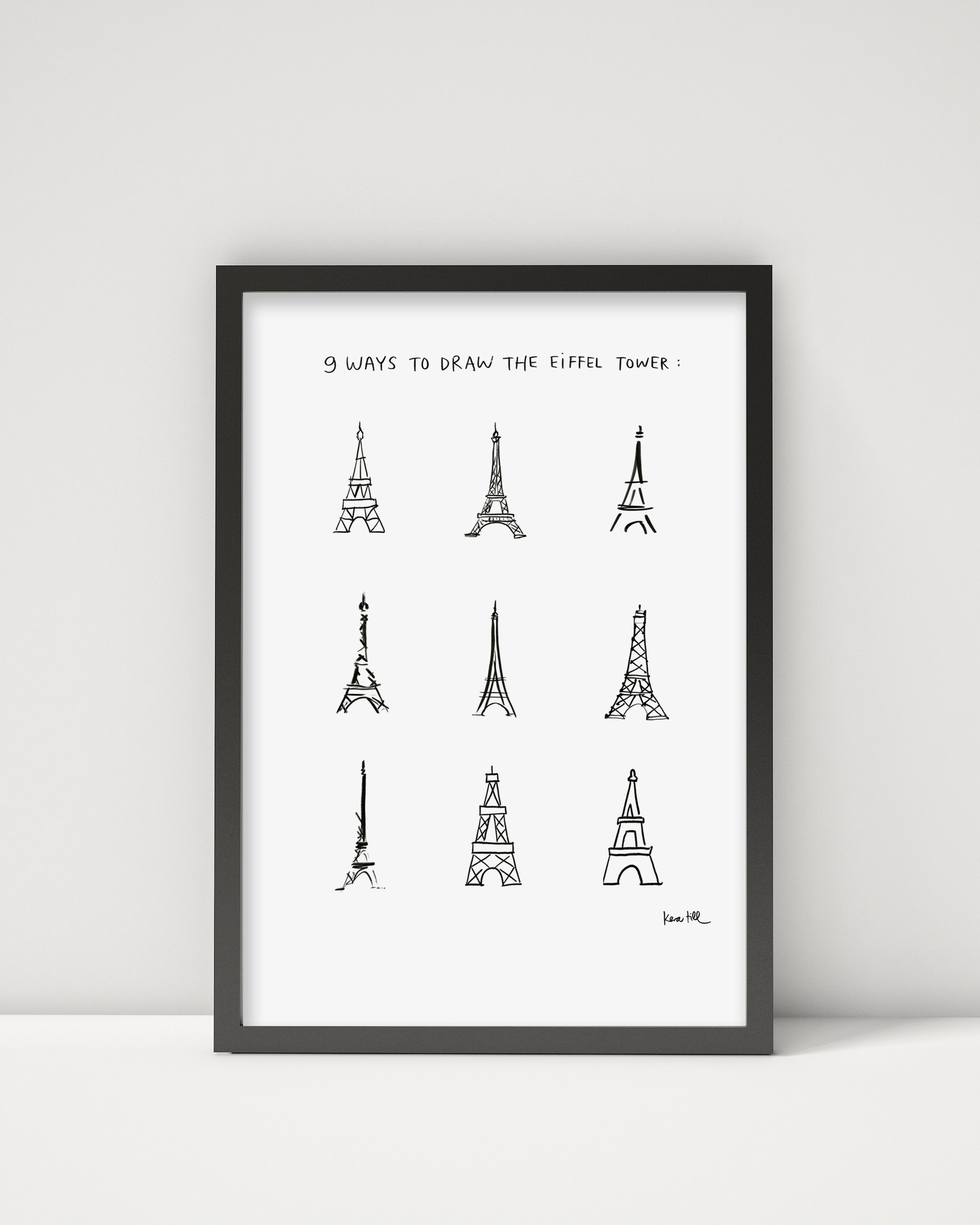 """Poster """"Eiffel Tower"""" A3"""