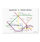 "Poster ""Fahrplan in Corona-Zeiten"" A3"